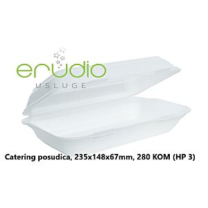 Catering posudica, 235x148x67mm, 280/1, (HP 3)